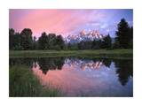 Grand Teton Range at Schwabacher Landing, Grand Teton NP, Wyoming Plakater af Tim Fitzharris