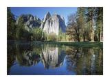 Cathedral rock reflected in the Merced River, Yosemite NP, California Prints by Tim Fitzharris