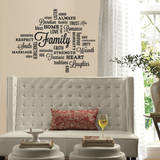 Family Quote Wall Decal Kalkomania ścienna