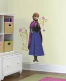 Disney - Frozen - Il regno di ghiaccio - Anna con mantello (sticker murale) Decalcomania da muro