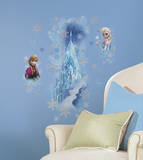 Disney - Frozen Ice Palace with Else and Anna Wall Decal Kalkomania ścienna
