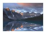 Wenkchemna Peaks reflected in Moraine Lake, Valley of Ten Peaks, Banff, Canada Art by Tim Fitzharris