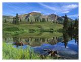 Ruby Peak reflected in lake, Raggeds Wilderness, Colorado Art by Tim Fitzharris