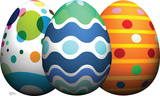 Easter Egg Grouping Lifesize Standup Cardboard Cutouts