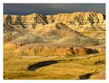 Eroded buttes and prairie in Badlands National Park, South Dakota Prints by Tim Fitzharris