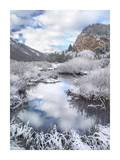 Boulder Mountains and Summit Creek dusted with snow, Idaho Posters by Tim Fitzharris