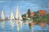 Regattas at Argenteuil by Claude Monet Photographic Print