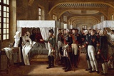 Napoleon Visiting the Infirmary of Invalides on 11Th February 1808 by Alexandre Veron Bellecourt Reproduction photographique