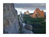 Gray Rock and South Gateway Rock, Garden of the Gods, Colorado Posters by Tim Fitzharris