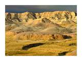 Eroded buttes and prairie in Badlands National Park, South Dakota Poster by Tim Fitzharris