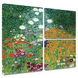 Farm Garden Gallery-Wrapped Canvas Stretched Canvas Print by Gustav Klimt