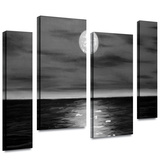 Moon Rising 4 piece gallery-wrapped canvas Stretched Canvas Print by Jim Morana