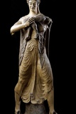 Etruscan Sculpture of the Goddess Leto Holding Her Son Apollo Photographic Print
