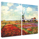 Windmill Gallery-Wrapped Canvas Gallery Wrapped Canvas Set by Claude Monet