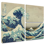 The Great Wave Off Kanagawa Gallery-Wrapped Canvas Gallery Wrapped Canvas Set by Katsushika Hokusai