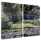 Bridge at Sea Rose Pond Gallery-Wrapped Canvas Stretched Canvas Print by Claude Monet
