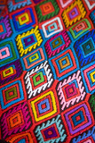 Brightly Colored Embroidered Textile Photographic Print by Julie Eggers