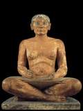 Ancient Egyptian Statue of Seated Scribe Photographic Print