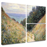 Footpath Gallery-Wrapped Canvas Gallery Wrapped Canvas Set by Claude Monet