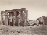 Man Seated on Ruins in Thebes Photographic Print