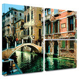 Venice Canal Gallery-Wrapped Canvas Prints by George Zucconi