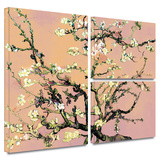 Eggshell Almond Blossom Gallery-Wrapped Canvas Stretched Canvas Print by Vincent van Gogh