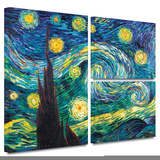 Starry Night Gallery-Wrapped Canvas Stretched Canvas Print by Vincent van Gogh