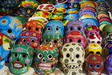 Handicrafts, Masks for Sale, Cancun, Quintana Roo, Mexico, North America Photographic Print by  Tuul