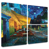 Café Terrace at Night Gallery-Wrapped Canvas Stretched Canvas Print by Vincent van Gogh