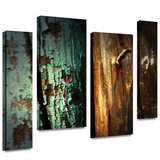 Wood and Nail 4 piece gallery-wrapped canvas Stretched Canvas Print by Mark Ross