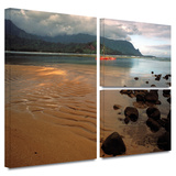 Hanalei Bay at Dawn Gallery-Wrapped Canvas Stretched Canvas Print by Kathy Yates