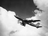 1960S American Airlines A-707 Jet Ascending through Clouds Photographic Print by R. Krubner