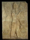 Mesopotamian Relief of Blessing Winged Genius Photographic Print