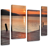 Another Kekua Sunrise 4 piece gallery-wrapped canvas Gallery Wrapped Canvas by Steve Ainsworth