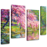 Blossoming Trees 4 piece gallery-wrapped canvas Stretched Canvas Print by Svetlana Novikova