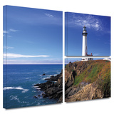Pigeon Point Lighthouse Gallery-Wrapped Canvas Stretched Canvas Print by Kathy Yates
