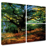 Bodmer at Oak at Fountainbleau Gallery-Wrapped Canvas Gallery Wrapped Canvas Set by Claude Monet