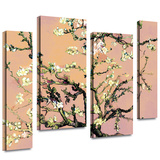 Eggshell Almond Blossom 4 piece gallery-wrapped canvas Stretched Canvas Print by Vincent van Gogh