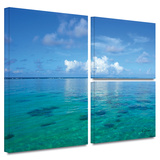 Lagoon and Reef Gallery-Wrapped Canvas Stretched Canvas Print by George Zucconi
