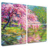 Blossoming Trees Gallery-Wrapped Canvas Stretched Canvas Print by Svetlana Novikova