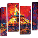 Eiffel Tower 4 piece gallery-wrapped canvas Gallery Wrapped Canvas by Svetlana Novikova
