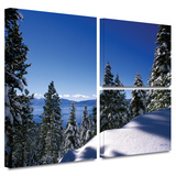 Lake Tahoe in Winter Gallery-Wrapped Canvas Stretched Canvas Print by Kathy Yates