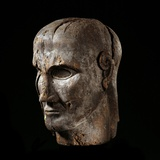 Etruscan Sculpture of Virile Head Photographic Print