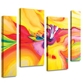 Secret Life of Lily 4 piece gallery-wrapped canvas Gallery Wrapped Canvas by Susi Franco