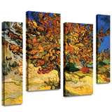 Mulberry Tree 4 piece gallery-wrapped canvas Stretched Canvas Print by Vincent van Gogh