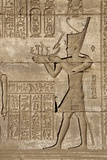 Ancient Egyptian Sunken Relief Depicting Man Carrying a Symbolic Bark, Detail of a Roman Mammisi Photographic Print