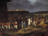 Detail of Emperor Napoleon I Meets English Prisoners in Astorga by Hippolyte Lecomte Photographic Print
