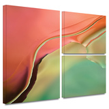 Flow Abstract I Gallery-Wrapped Canvas Stretched Canvas Print by Cora Niele