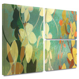 Shadow Florals Gallery-Wrapped Canvas Stretched Canvas Print by Jan Weiss