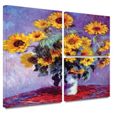 Sunflowers Gallery-Wrapped Canvas Gallery Wrapped Canvas Set by Claude Monet